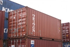 Triton 20 ft 4 star shipping container red