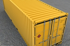 Yellow 40' High Cube Container