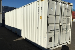 White 40' High Cube New Container