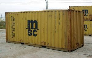 20ft used shipping container, 20ft sea can, 20ft used conex box, 20ft yellow shipping container