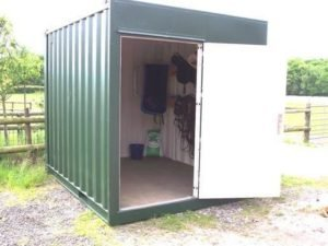 Shipping Container Horse Tack Room with Man Door
