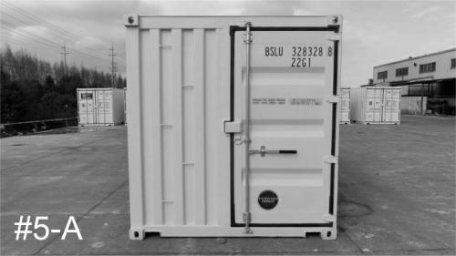 New/1-Trip 20ft shipping container, standard height, Rear 3' door (rear view).