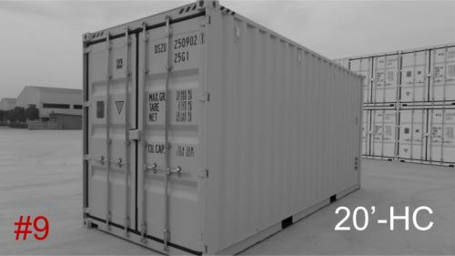 New/1-Trip 20 ft high cube container with 4/4 doors
