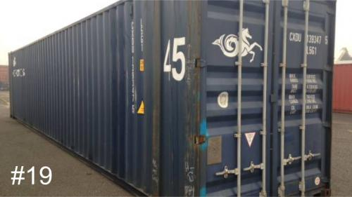 Used 40ft shipping container, standard height. 3-Star+ rated condition