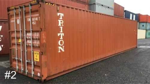 Used 40ft shipping container (high cube container) in 3-Star+ Condition.