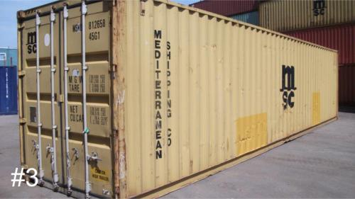 Used 40ft shipping container (high cube container) in 3-star condition