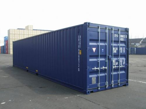 New/1-Trip 40ft shipping container with 4/4 doors (high cube container)