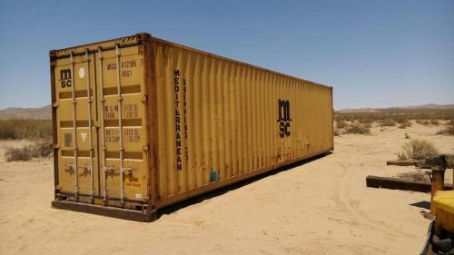 Used 40ft shipping container (high cube container) in 2-Star condition.