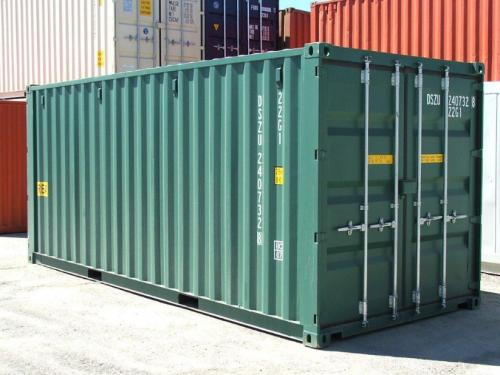 20-foot-green-shipping-container