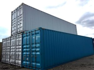 stacked general purpose shipping container